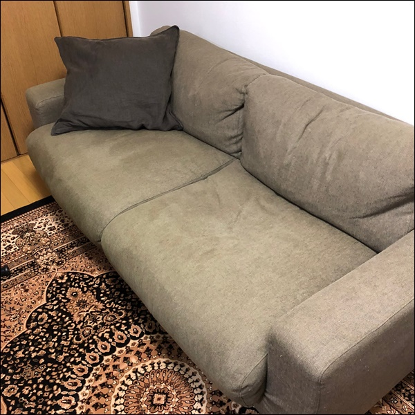 無印良品のソファ