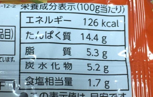 サラダチキンソーセージのタンパク質