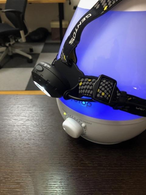 ジェントスのライト装着、角度を変えたイメージ図