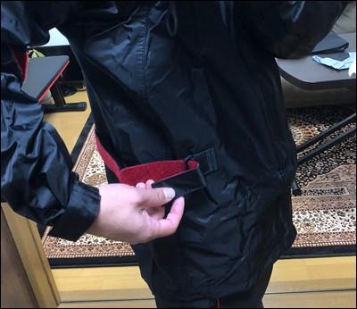 イージスシリーズの腰部分のベルクロ