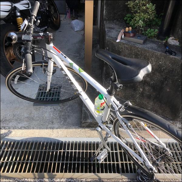 クロスバイクのグリップをバーテープに交換したよ4