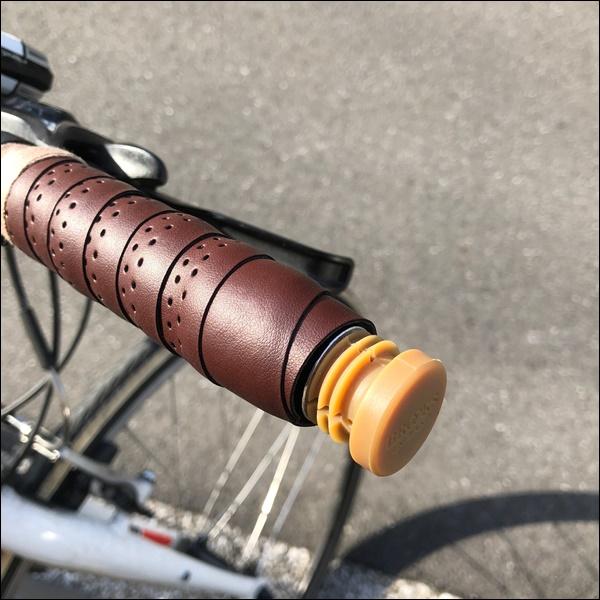 クロスバイクのグリップをバーテープに交換したよ17