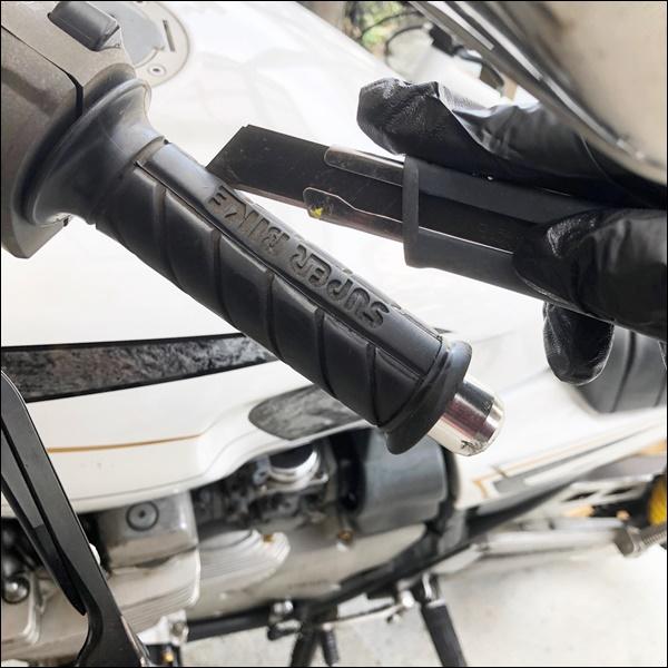バイクのグリップ交換(2)