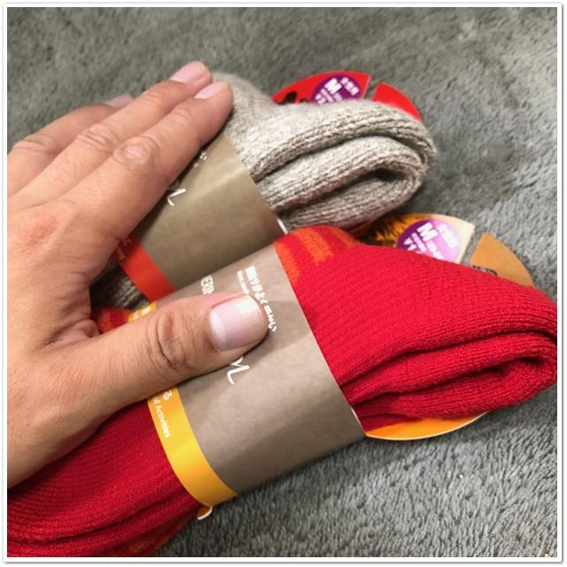 メリノウールの靴下の厚みを比べてみた