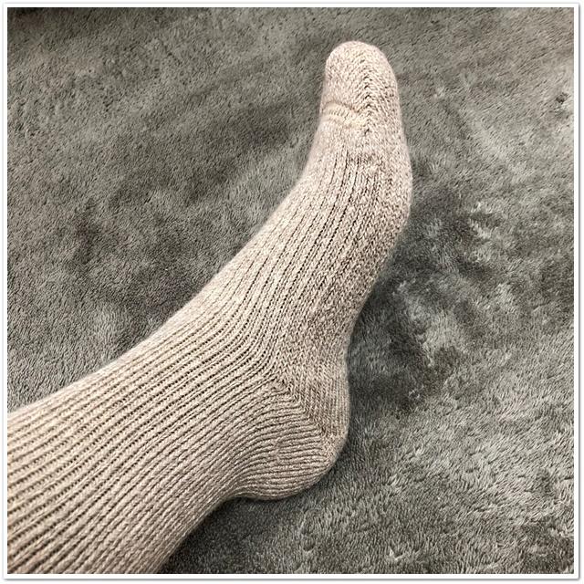 メリノウールの靴下の超極厚手