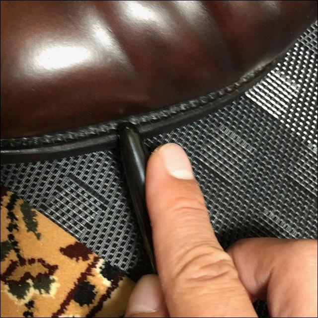 コードバンの革靴にコバインキを塗っていく前にコバを均すよー(かっさ棒編4