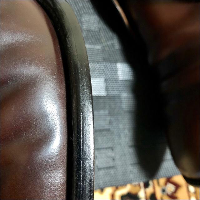 コードバンの革靴にコバインキを塗るよ3