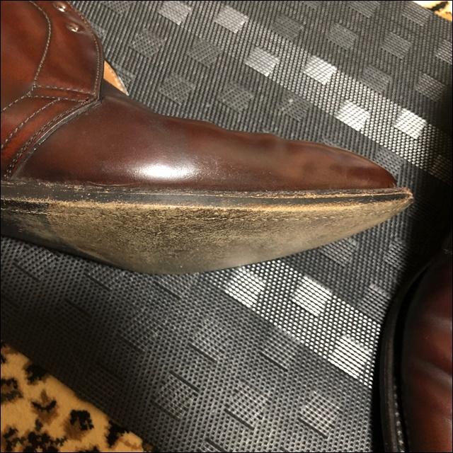 コードバンの革靴にコバインキを塗っていくよー2
