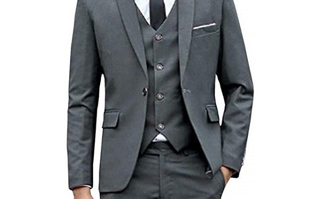 1つボタンスーツ