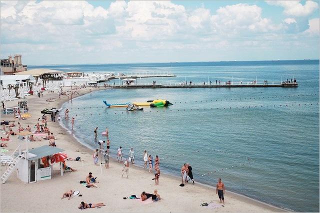 夏の海水浴場