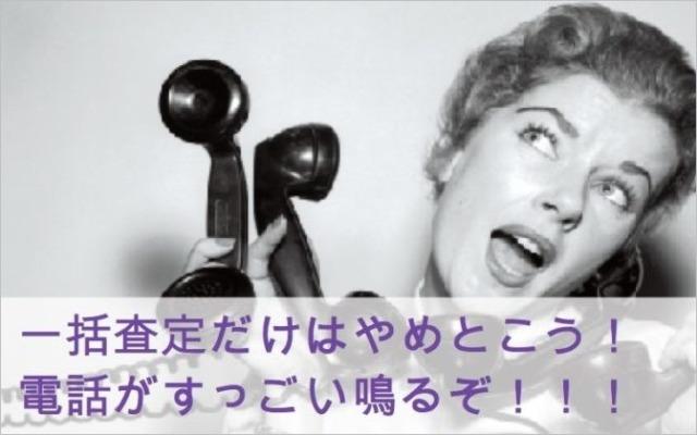 一括査定だけはやめとこう!電話がすっごい鳴るぞ!!!!