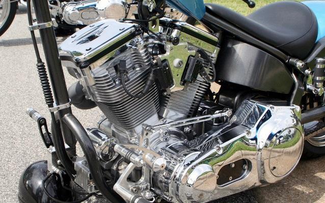 バイクのメインフレーム周り