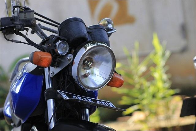 しょぼぼーんってなってるバイク