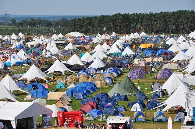 有名な山のテント場はソロテントであふれてる